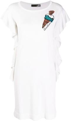 Love Moschino Embroidered Ice Cream Dress