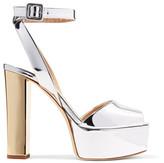 Giuseppe Zanotti Mirrored-leather Platform Sandals - IT38
