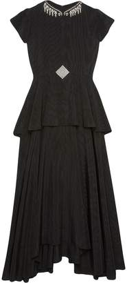 Gucci Moire crystal embellished flared gown