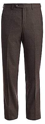 Saks Fifth Avenue Micro Check Wool Trousers