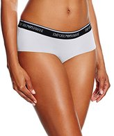 Emporio Armani Women's Iconic Logo Cotton Cheeky Boyshort