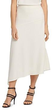 DKNY Paneled Asymmetric Midi Skirt