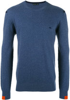 Etro contrasting cuff jumper - men - Cotton/Cashmere - M