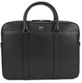 HUGO BOSS - Signature Collection Document Case In Italian Calf Leather - Black