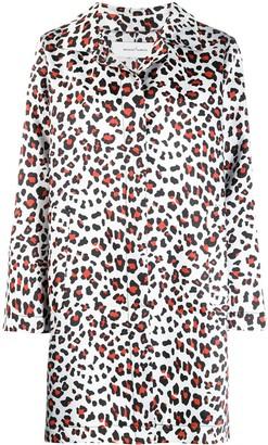 Marques Almeida Leopard-Print Coat