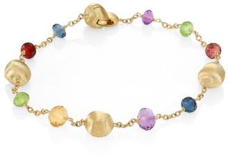 Marco Bicego Africa 18K Yellow Gold & Mixed Gemstone Station Bracelet