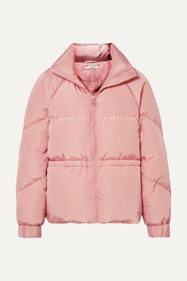 Ganni Quilted Shell Down Jacket - Baby pink