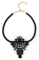 Knotty Leather & Crystal Statement Necklace