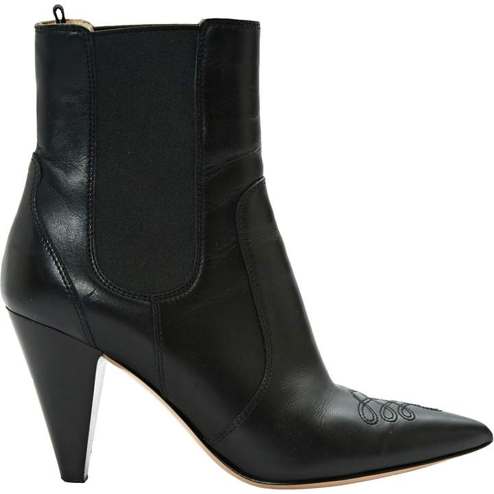 Gianvito Rossi Leather western boots