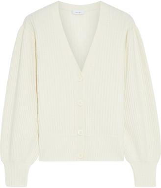 Iris & Ink Chelsea Ribbed Wool-blend Cardigan