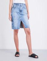 AG Jeans The Emery high-rise denim skirt