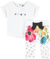 Catimini Graphic T-shirt and matching treggings