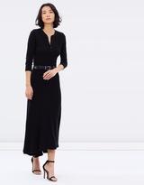 Polo Ralph Lauren Waffle-Knit Henley Maxi Dress