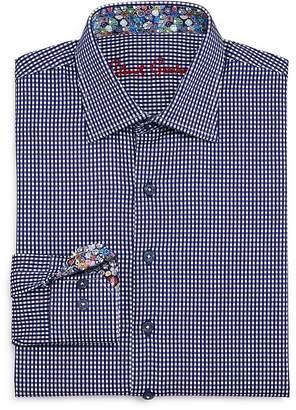 Robert Graham Boys' Charly Gingham Dress Shirt - Big Kid
