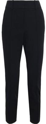 Veronica Beard Lago Cropped Twill Slim-leg Pants