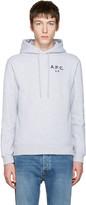A.P.C. Grey us Logo Hoodie