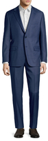 Hickey Freeman Solid Notch Lapel Suit