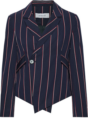Derek Lam 10 Crosby Cropped Striped Woven Blazer