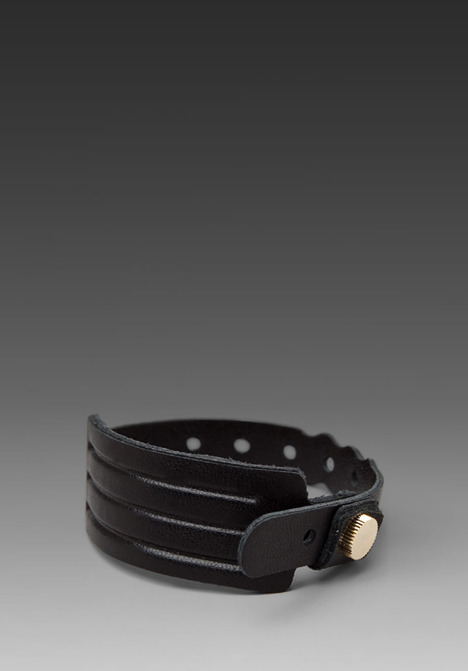 Cast of Vices Coming or Going Leather Medical ID Bracelet