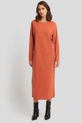 NA-KD Seam Detail Long Sleeve T-shirt Dress