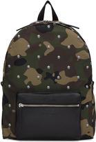 Alexander McQueen Green Nylon Camouflage and Skulls Backpack