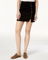 Free People This Way Or That Cotton Zip Mini Skirt