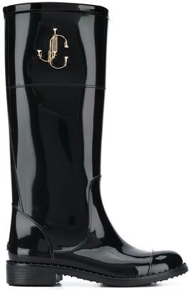 Jimmy Choo 30mm logo plaque rain boots