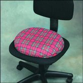 Wheelchairs Invalid Ring Smooth Foam 40.64 cm Plaid with Cover