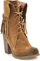 Sbicca Tan Wagon Suede Fringe Fold-Over Bootie