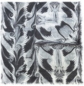 Alexander McQueen cashmere graphic scarf