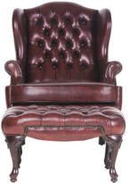 Moran Romsey' Chair in Antica Red Leather