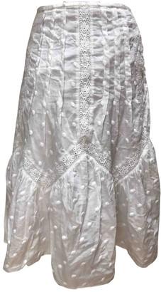 Gerard Darel White Cotton Skirt for Women