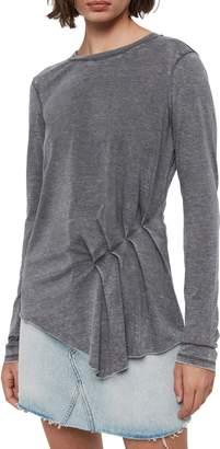 AllSaints Duma Asymmetrical Long Sleeve Tee