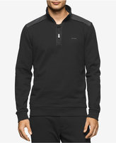 Calvin Klein Men's Quarter-Zip Mixed-Media Sweater, A Macy's Exclusive Style
