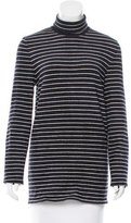 Chanel Striped Turtleneck Sweater