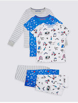 Marks and Spencer 3 Pack Pure Cotton Pyjamas (3-16 Years)