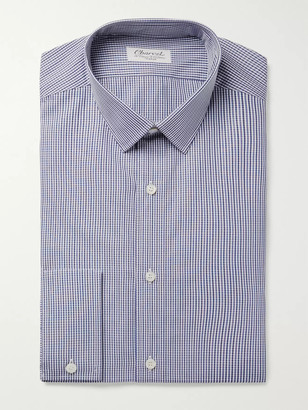 Charvet Blue Gingham Cotton-Poplin Shirt