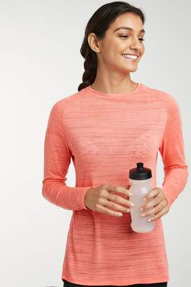 Next Womens Coral Long Sleeve Sports Top - Orange