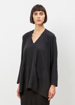 Zero Maria Cornejo black long sleeve tasi top