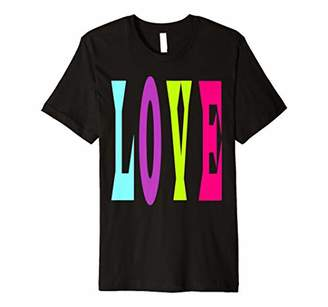LOVE Big Print Letters in Bright Pastel Colors Girls Women Premium T-Shirt