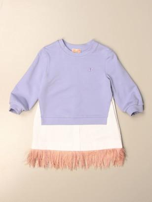 Elisabetta Franchi Sweatshirt Dress With Fringes