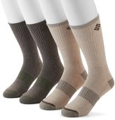 Columbia Men's 4-pack Heathered Ribbed Crew Socks