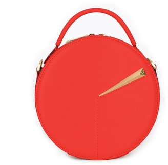 HR NY Leather Circle Crossbody Bag - Clock