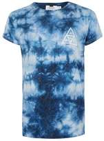 Topman Blue Wash Muscle Fit Omega T-Shirt