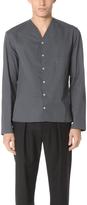 Lemaire V Neck Collar Long Sleeve Shirt