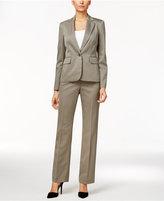 Le Suit One-Button Striped Pantsuit