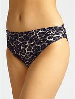 John Lewis Sultry Leopard Fold Down Bikini Briefs, Multi