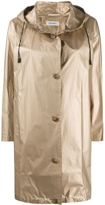 Peserico Hooded Metallic Raincoat