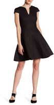 Julia Jordan Cap Sleeve V-Neck Dress