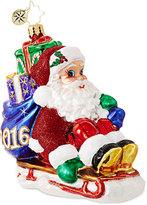 Christopher Radko Sledding Santa 2016 Dated Ornament